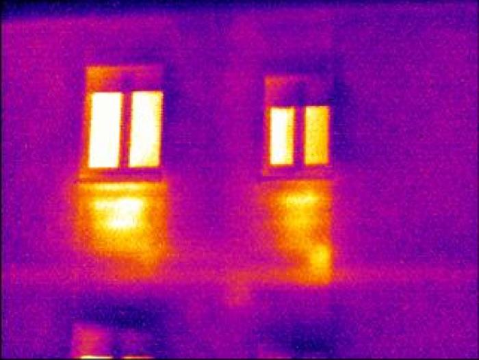 Termografia edile - Applicazioni : individuare la carenza di isolamento termico