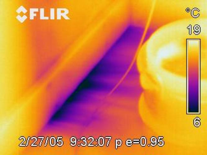 Termografia edile - Applicazioni: trovare infiltrazioni d'aria