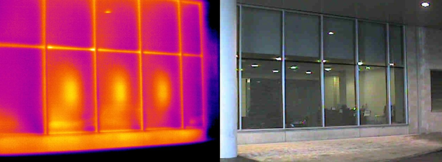 Termografia edile- Applicazioni: verificare l'isolamento nelle vetrate