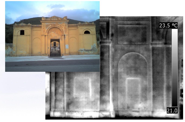 Termografia Edile - Applicazioni : Individuare tamponature nascoste e aperture occluse