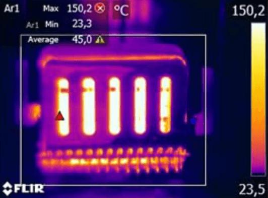 Scegliere la giusta termocamera fenomeno saturazione 2