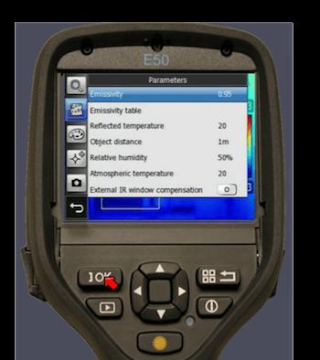 Inserire la temperatura riflessa nel software della termocamera