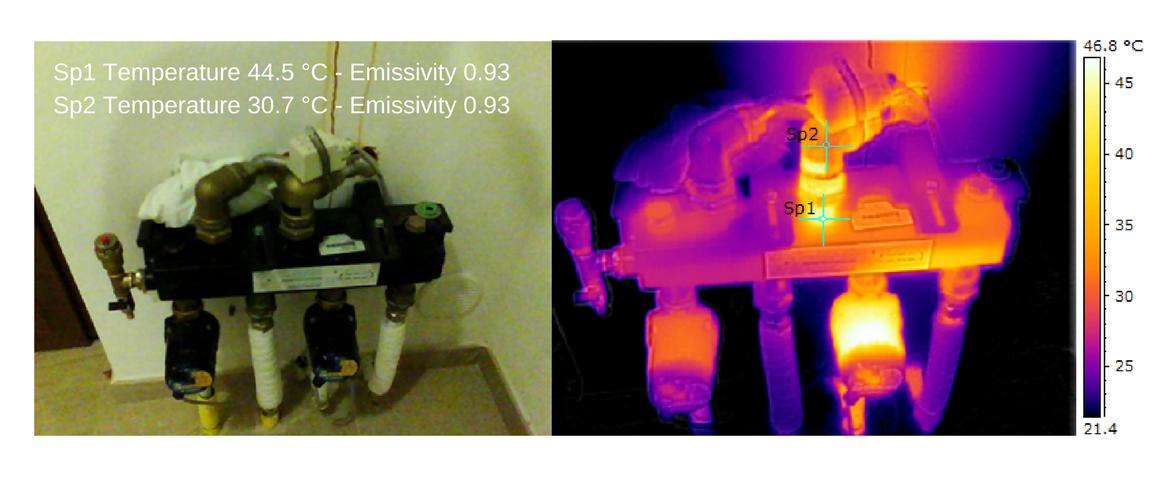 Termografia impianti di riscaldamento - radianti a pavimento