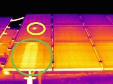 Termografia Impianto Fotovoltaico con termocamera FLIR T420bx img 5