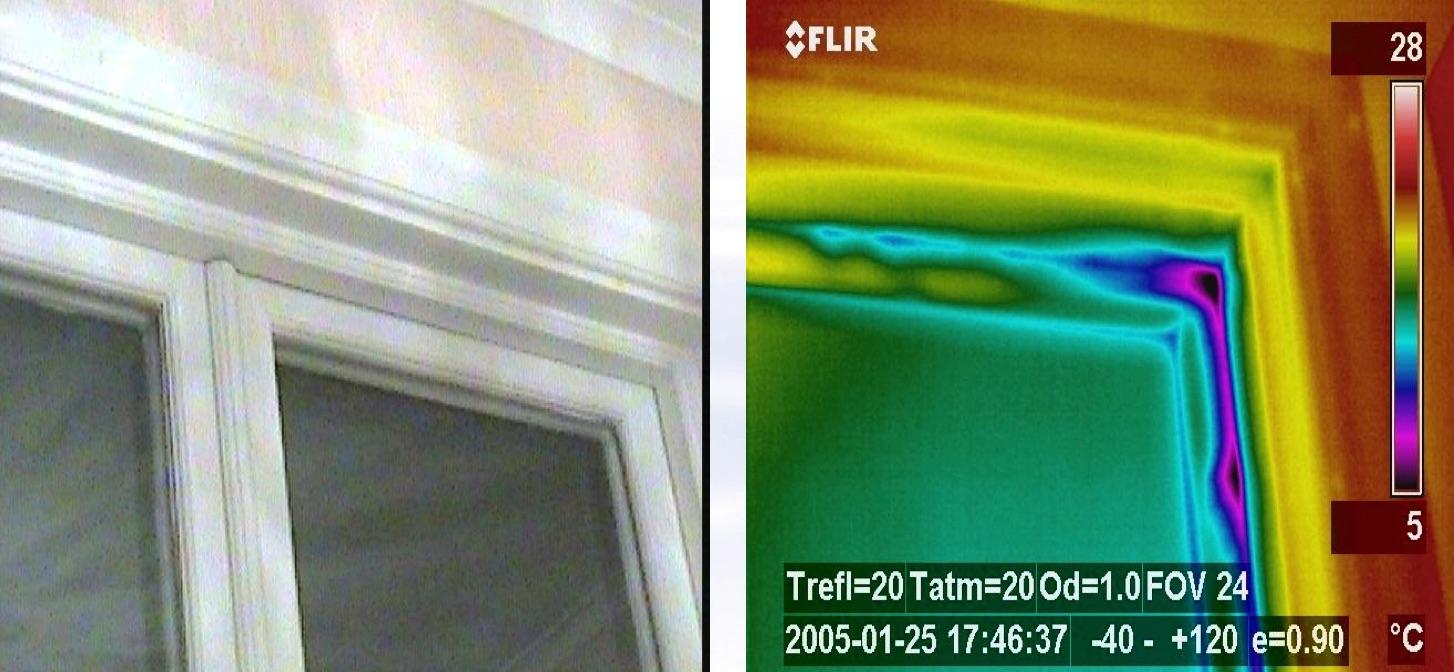 Termografia edile - Applicazioni: verificare la tenute degli infissi