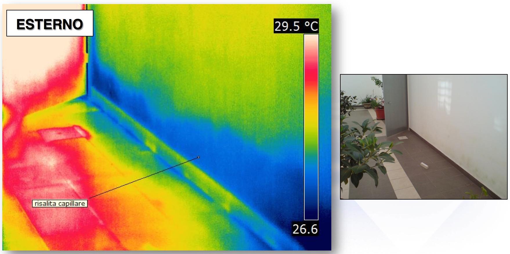 Termografia Edile - Applicazioni : Individuare L'umidità nei risalita
