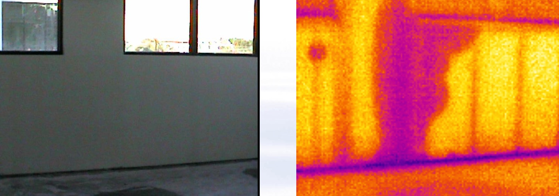 Termografia Edile - Applicazioni : Individuare L'umidità nei muri