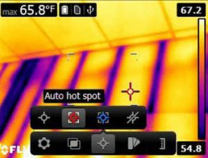 Termocamera economica FLIR E5-E6 Area punto caldo