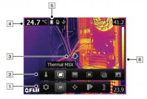 Termocamera economica FLIR E5 - E6 - Interfaccia grafica