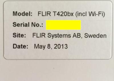 Termocamera usata FLIR T420bx certificato