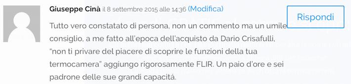 Termocamere FLIR Opinioni