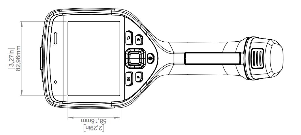 Termocamere FLIR Serie Exx E75-E85-E95 peso e dimensioni