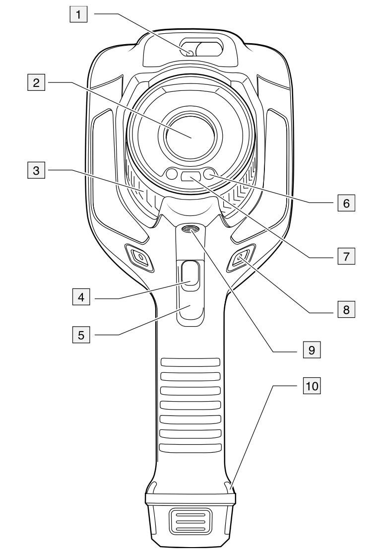 Termocamere FLIR Serie Exx E75-E85-E95 vista anteriore
