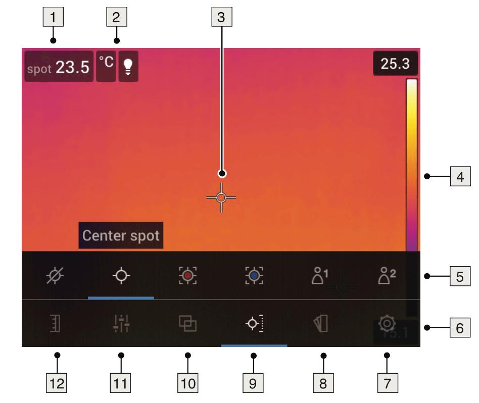 Termocamera FLIR E75 - E85- E95 - interfaccia grafica