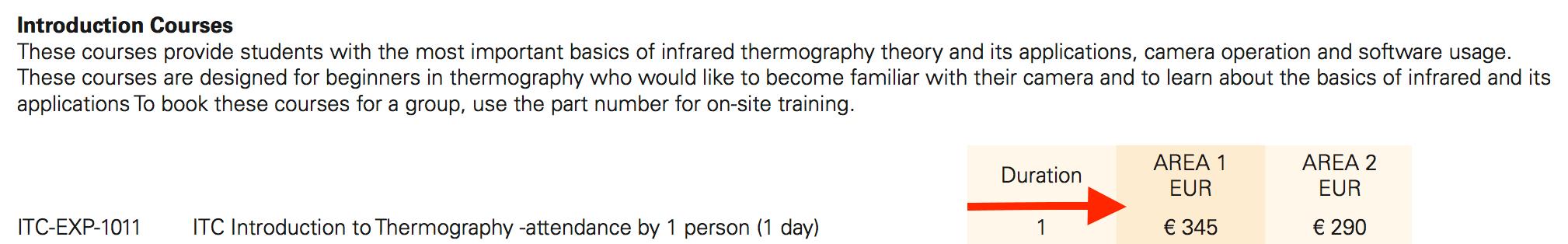 Corso di termografia Palermo - prezzi ufficiali