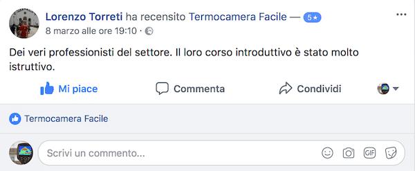 Termocamere e corsi FLIR - Opnioni - Torreti