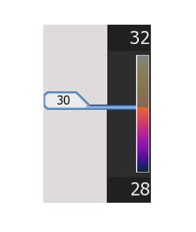 Termocamera con range di temperatura manuale