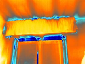 termografia blower door test