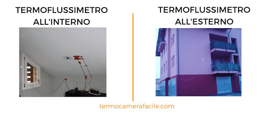 Posizionamento termoflussimetro negli edifici