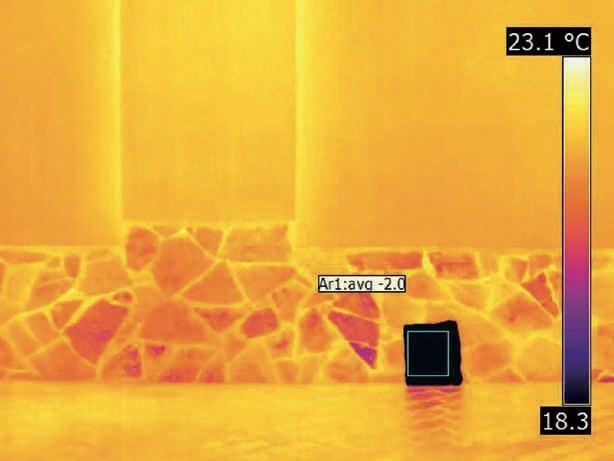 il riflettore per misurare la temperatura riflessa