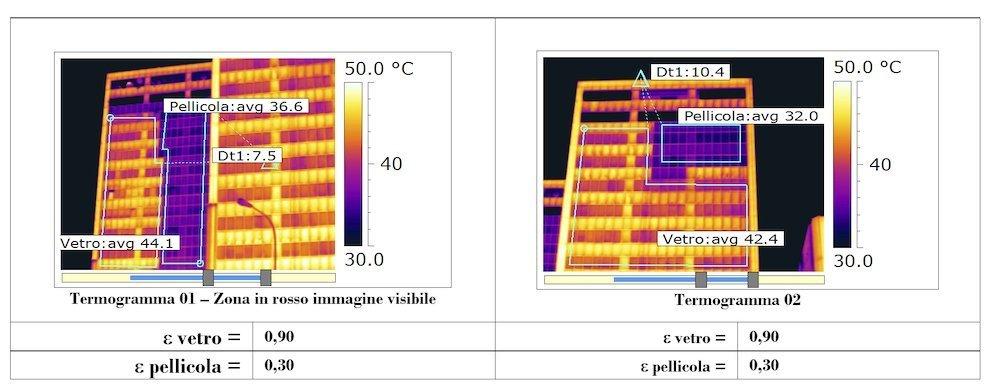 termografia vetro basso emissivo
