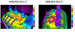Termografia quantitativa - analisi trasformatore a olio