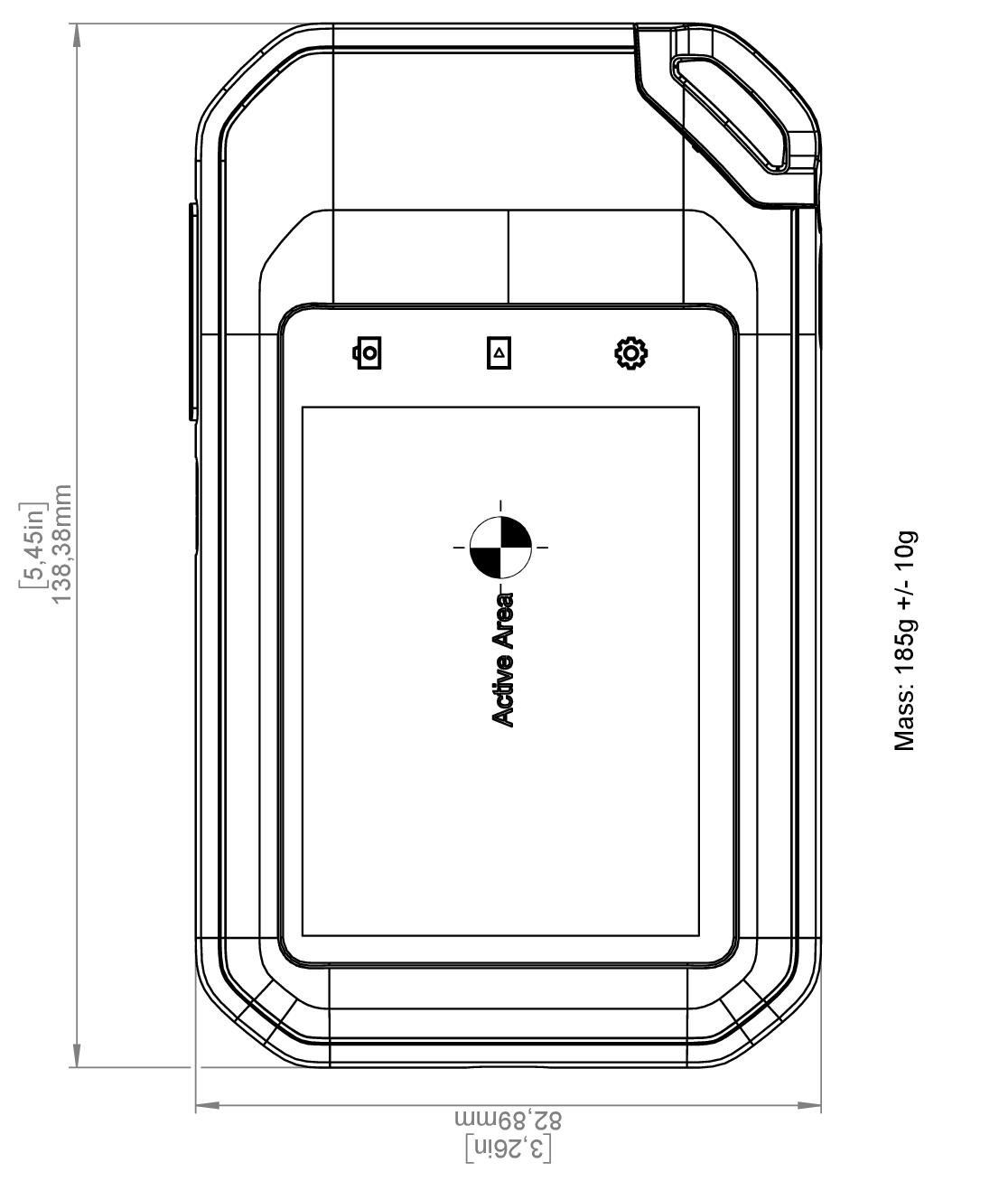 FLIR C5: Dimensioni