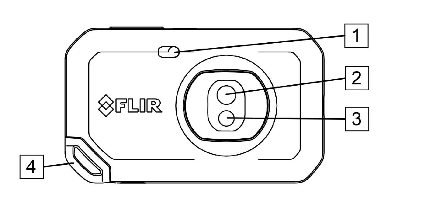 FLIR C5: Vista anteriore dettagli