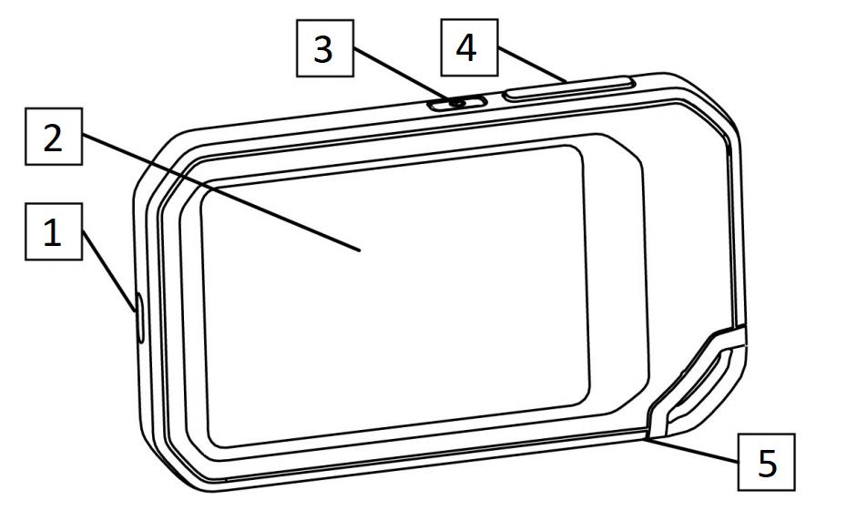 FLIR C5: Vista posteriore dettagli