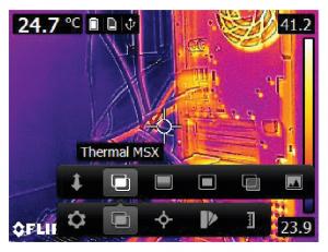 Termocamere FLIR E5XT - E6XT - E8XT - Modalità MSX