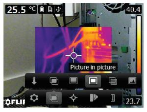 Termocamere FLIR E5XT - E6XT - E8XT - Picture in picture