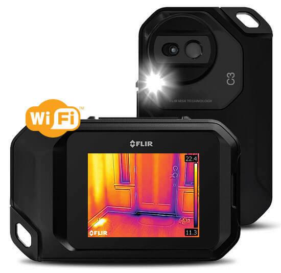 FLIR C3 termocamera tascabile frontale