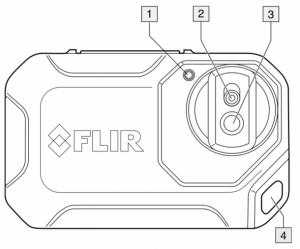 FLIR C2: Vista anteriore dettagli