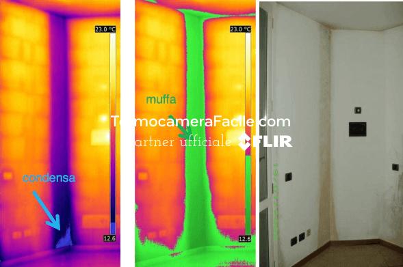 Termografia per la riqualificazione energetica - muffa e condensa