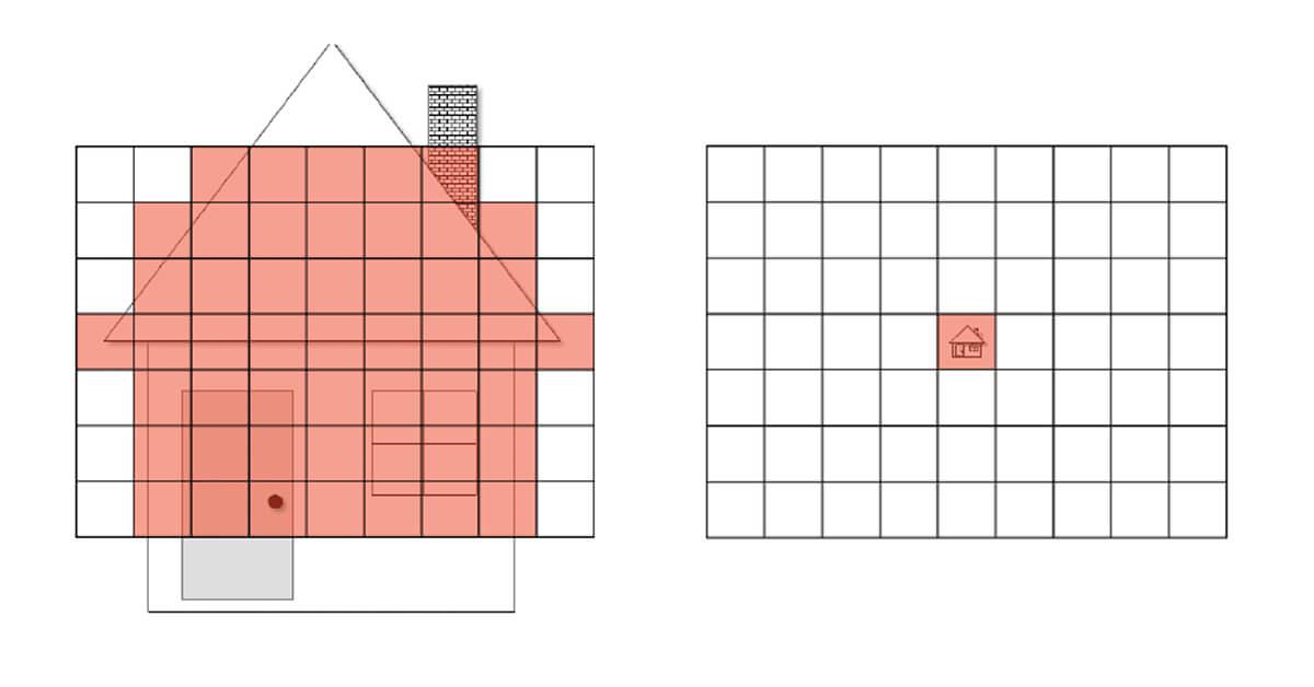 IFOV e FOV Termocamera grafico rapporto distanza spot