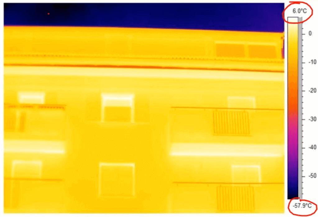Termografia edilizia sintonizzazione termica automatica termocamera