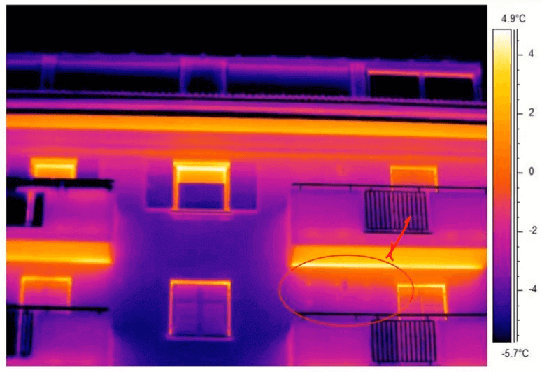 Termografia edilizia sintonizzazione termica manuale